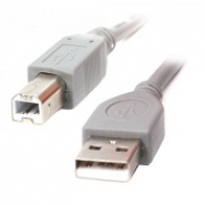 Кабель USB2.0 A-папа/B-папа, серый, 1.8 м, премиум Cablexpert CCP-USB2-AMBM-6G