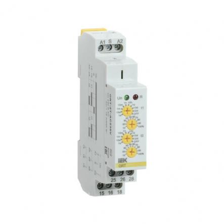 Реле времени IEK ORT. 2 конт. 2 уст. 12-240 В AС/DC ORT-2T-ACDC12-240V - 1
