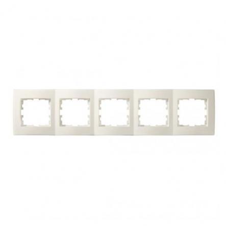 Рамка пятиместная Lezard Lesya горизонтальная кремовый 705-0300-150 - 1