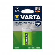 Аккумулятор VARTA RECHARGEABLE ACCU 6F22 9V 200 mAh BLI 1 NI-MH