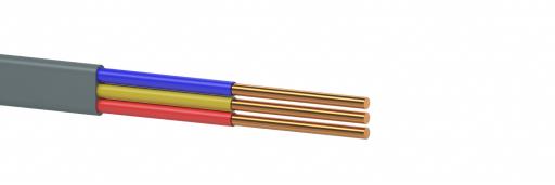 Провод установочный с медной жилой плоский ВВП-3 3х4,0 - 1