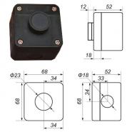 Пост управления кнопочный ПК-212-1-УЗ  IP-40 Промфактор