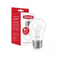 Лампа  MAXUS 1-LED-748 G45 8W 4100K 220V E27