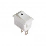 переключатель 1кл белый KCD5-101 WH/WH