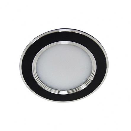 Светильник встраеваемый светодиодный AL527 Feron 5W круг черный 400Lm 4000K - 1
