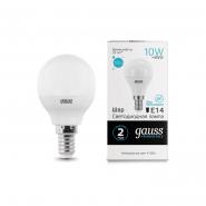 Лампа Gauss LED Elementary Шар 10W E14 730lm 4100K
