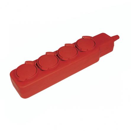 Удлинитель ИЕК У04В 4места с защ. крышками 2Р+РЕ/5м. 3х1мм2 16А/250В - 1