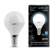 Лампа Gauss LED Black G45 6,5W E14 4100K