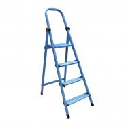 Стремянка метал. WORK'S 4ступ. 404, синяя высота 301см