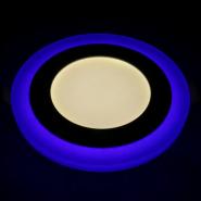 Светильник светодиодный Feron 6W 480Lm 4000K 145mm с  синей подсветкой OI