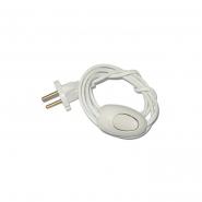 Шнур на бра белый с выключателем 1,7м.