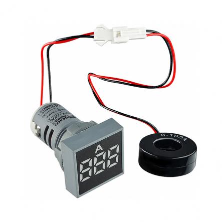 Амперметр цифровой ED16-22FAD 0-100A (белый) врезной монтаж - 1