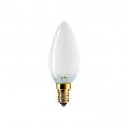 Лампа накал. В-35 60W E27 свеча матовая PHILIPS