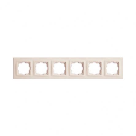 Рамка 6-я, Mono Electric, DESPINA (белый) - 1