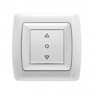 Выключатель кнопочный для управления жалюзи белый VIKO Серия CARMEN