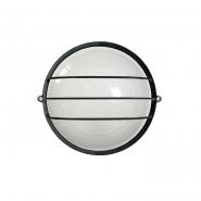 Светильник НПП 1106 чёрный-круг 100 Вт.IP54 с решеткой