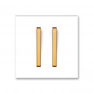 Клавиша двойная белый/оранжевый лед Neo