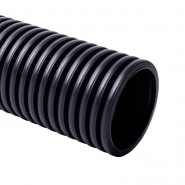 Труба двухстенная д160мм с протяжкой  КОПОФЛЕКС 50м черная