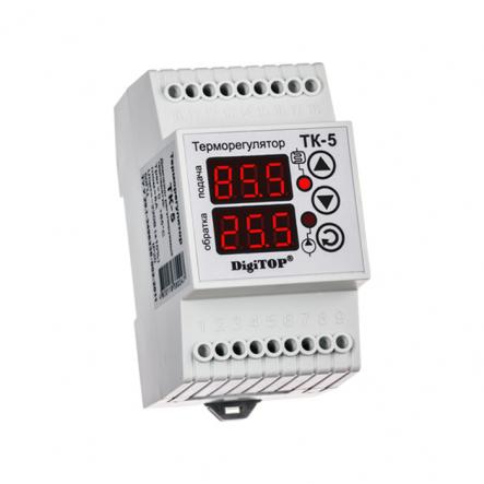 Терморегулятор DigiTop ТК-5в 3датчика 0..+90град. (воздух, подача, обратка) - 1