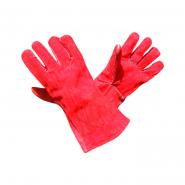 Перчатки Крага без подкладки серые длинные SFG40032