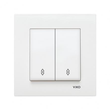 Выключатель двухклавишный на 2 направления белый VIKO Серия KARRE - 1