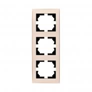 Рамка 3-я вертикальная крем Lezard серия RAIN