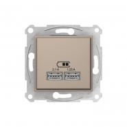 Механизм USB-розетки 2,1A 10,5W титан