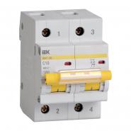 Автоматический выключатель IEK ВА47-100 2p 10A С