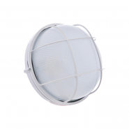 Светильник влагостойкий MIF 012 60W круг белый с решеткой