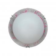 Светильник НББ 2х60W E27 d=300 серебро 24150
