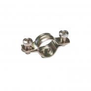 Скоба металлическая двухкомпонентная ИЕК d10-11мм