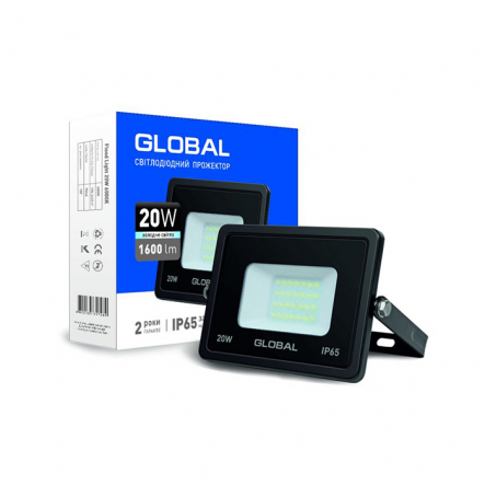 Прожектор Flood Light 20W 6000K GLOBAL - 1