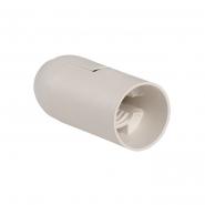 Патрон подвесной пластик Е14 белый