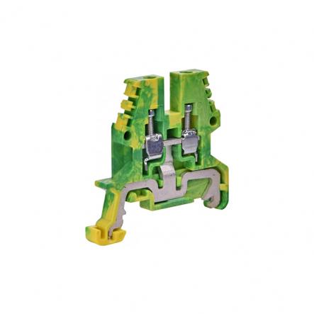 Клемма винтовая зазем. ESC-TEO.4 (4 мм2,, желт-зел.) - 1
