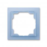 Рамка одинарная Neo белый/синий лед