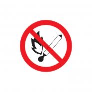 """Знак Ф180мм """"Забороняється користуватися відкритим вогнем та палити"""""""