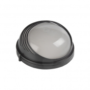 Светильник НПП 1307 черн-круг ресничка  60Вт IP54 ИЕК