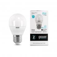 Лампа Gauss LED Elementary Шар 8W E27 4100K