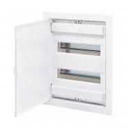 Щит металлопластиковый ECG28 (24+4модуля) ETI с металлической белой дверцей