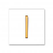 Клавиша одинарная белый/оранжевый лед Neo