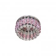 Светильник точечный  MR-16 G5.3 50W прозрачный-розовый/хром
