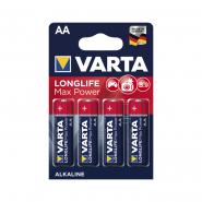 Батарейка VARTA MAX T./LONGLIFE MAX POWER AA BLI 4 ALKALINE ( щелочь, работает при -25град)