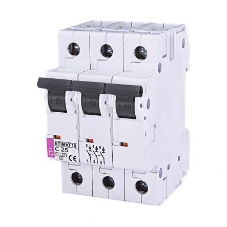 Автоматический выключатель ETI 10 3p C 25А (10 kA) 2135718 - 1
