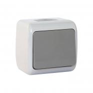 Выключатель 1-кл. серый IP54 ERSTE