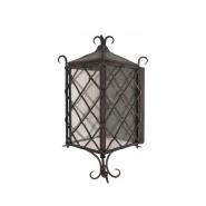 Светильник садово - парковый Palace 8026B/1А 60W E27 темная медь мат. стекло