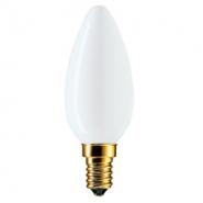 Лампа PHILIPS В-35  свеча E14  60W матовая