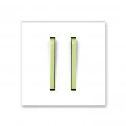 Клавиша двойная Neo белый/зеленый лед