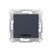 Выключатель 1 кл. графит  с подсветкой