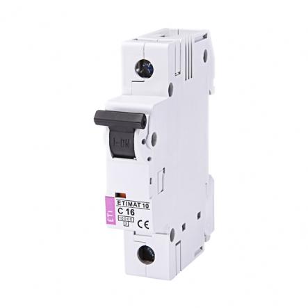 Автоматический выключатель ETI 10 1p C 16А (10 kA) 2131716 - 1