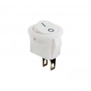 Переключатель 1кл круглый белый KCD5-2-101 White/White